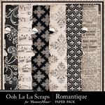 Romantique Worn and Torn Paper Pack-$1.99 (Ooh La La Scraps)