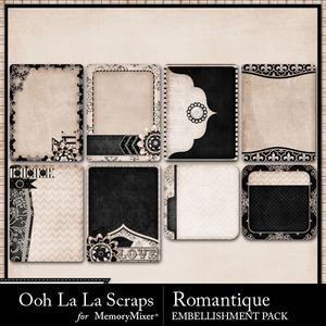 Romantque journal cards medium