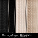 Romantque pattern papers small