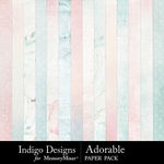 Adorable Paper Pack-$3.49 (Indigo Designs)