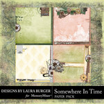 Somewhere In Time Stacked Papers-$3.49 (Laura Burger)
