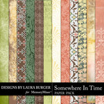Somewhere In Time Patterned Papers-$4.99 (Laura Burger)