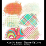 Beauty Of Love Paint Chips-$1.50 (CutiePie Scraps)