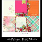 Beauty Of Love Journal Cards-$2.99 (CutiePie Scraps)