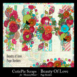 Beauty Of Love Border Pack-$2.99 (CutiePie Scraps)