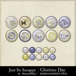 Glorious Day Flairs Pack-$1.99 (Just So Scrappy)