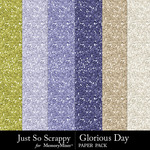Glorious day glitter papers small