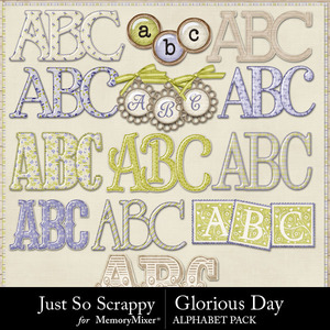 Glorious day alphabets medium