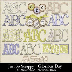 Glorious day alphabets medium