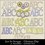 Glorious day alphabets small