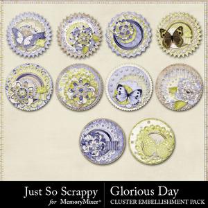 Glorious day cluster seals medium