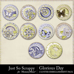 Glorious Day Cluster Seals Pack-$1.99 (Just So Scrappy)
