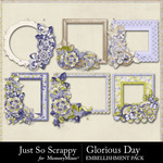 Glorious Day Cluster Frames Pack-$1.99 (Just So Scrappy)