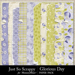 Glorious Day Worn Paper Pack-$1.99 (Just So Scrappy)