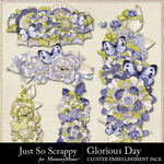 Glorious Day Clusters Pack-$1.99 (Just So Scrappy)