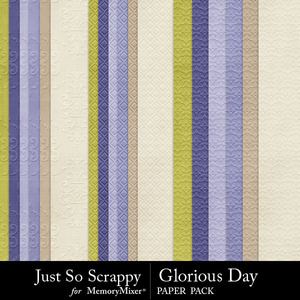 Glorious day embossed papers medium