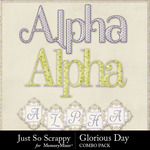 Glorious day kit alphabets small