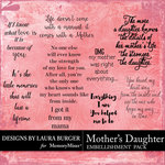 Mothers Daughter WordArt Pack-$4.99 (Laura Burger)