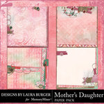 Mothers Daughter Stacked Paper Pack-$3.49 (Laura Burger)
