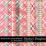 Mothers Daughter Plaids Paper Pack-$2.80 (Laura Burger)