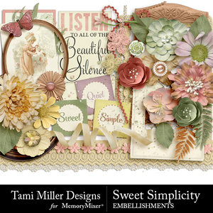 Sweet simplicity embellishments medium