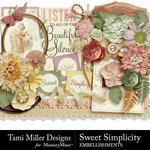 Sweet Simplicity Embellishments-$3.99 (Tami Miller)