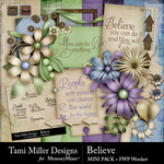 Believe TM Mini Pack-$3.99 (Tami Miller)