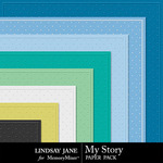 My Story LJ Embossed Paper Pack-$1.40 (Lindsay Jane)