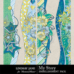 My Story LJ Border Pack-$1.40 (Lindsay Jane)
