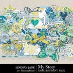My Story LJ Embellishment Pack-$3.49 (Lindsay Jane)