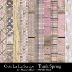 Think Spring Wood Paper Pack-$1.99 (Ooh La La Scraps)