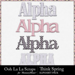 Think Spring Alphabet Pack-$3.49 (Ooh La La Scraps)