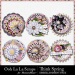 Think Spring Cluster Seals Pack-$1.99 (Ooh La La Scraps)