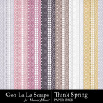 Think Spring Pattern Paper Pack-$1.99 (Ooh La La Scraps)