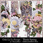 Think Spring Page Border Pack-$1.99 (Ooh La La Scraps)