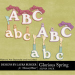 Glorious Spring Alphabet Pack-$2.80 (Laura Burger)