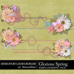 Glorious Spring Stitched Borders-$3.49 (Laura Burger)