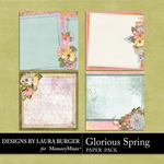 Glorious Spring Stacked Paper Pack-$4.99 (Laura Burger)