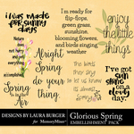 Glorious Spring Word Art Pack-$3.49 (Laura Burger)