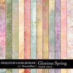 Glorious Spring Grunge Paper Pack-$3.99 (Laura Burger)