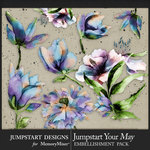 Jumpstart Your May 2017 Artful Blooms-$3.99 (Jumpstart Designs)