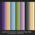 Jumpstart Your May 2017 Solid Papers-$2.80 (Jumpstart Designs)