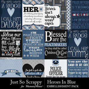Heroes in blue pocket cards medium