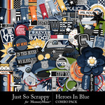 Heroes In Blue Combo Pack-$4.99 (Just So Scrappy)