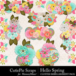 Hello Spring CPS Cluster Pack-$2.99 (CutiePie Scraps)