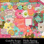 Hello Spring CPS Embellishment Pack-$2.99 (CutiePie Scraps)