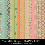 Happy Life Paper Pack-$2.99 (Tami Miller)