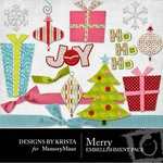 Merry Embellishment Pack-$2.99 (Designs by Krista)
