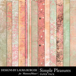 Simple Pleasures Grunge Papers-$3.99 (Laura Burger)