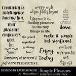 Simple Pleasures Word Art Pack-$4.99 (Laura Burger)